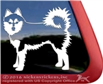 Alaskan Klee Kai Window Decal