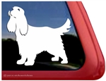 Long Tail Cocker Spaniel Window Decal