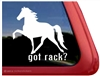 Racking Horse Trailer Window Decal
