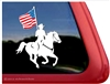 Equestrian Drill Team Horse Trailer Car Truck RV Laptop iPad Decal Sticker