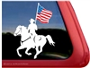Equestrian Drill Team Horse Trailer Car Truck RV Laptop iPad USA Flag Stickers Decals