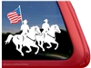 Drill Team Horse Trailer Window Decal