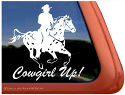 Galloping Appaloosa Rider Horse Trailer Window Decal