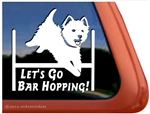 Westie Agility Dog Window Decal