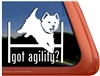 West Highland White Terrier Agility Dog Car Window iPad Decal Sticker