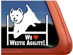 We Love Westie Agility West Highland White Terrier Dog Car Window iPad Decal Sticker