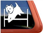 Custom West Highland White Terrier Agility Dog Car Window iPad Decal Sticker