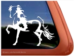 Custom Pinto Arabian Horse Trailer Car Truck RV Window Decal Sticker