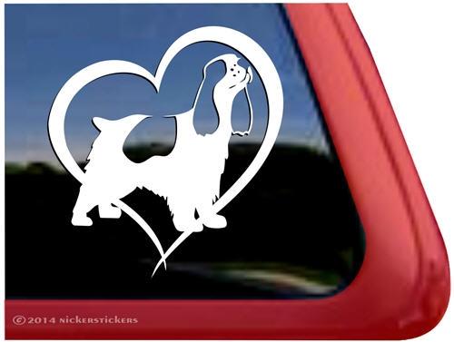 Vinyl Decal Sticker Color Choice-HIGH QUAL I Love My American Cocker Spaniel