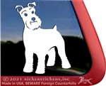 Custom Schnauzer Dog Car Truck RV Window Decal Sticker