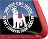 Schnauzer  Service Dog Car Truck Window Decal Sticker