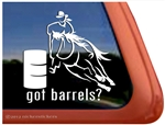 Barrel Racing Horse Trailer Window Decal