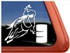Custom Barrel Racing Horse Trailer Car Truck RV Window Decal Sticker