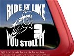 Barrel Horse Racing Horse Trailer Car Truck RV Window Decal Sticker