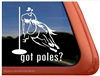 Pole Bending Horse Trailer Window Decal