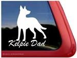 Australian Kelpie Window Decal