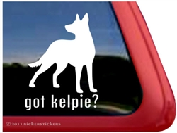 Got Kelpie Australian Kelpie Dog Car Truck RV Window Decal Sticker