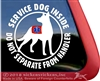 Australian Kelpie Service Dog Car Truck iPad RV Window Decal Sticker