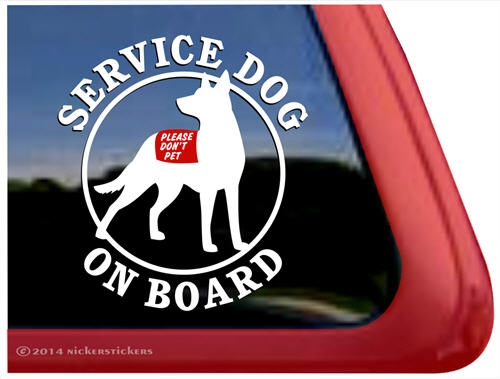 Fantastic Australian Kelpie Service Dog Dog Decals & Stickers | NickerStickers YF45