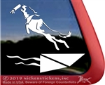 Custom Border Collie Dock Diving Dog iPad Car Truck Window Decal Sticker