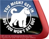 Bouvier des Flandres Guard Dog Car Truck RV Window Decal Sticker