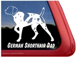German Shorthair Pointer Gun Dog Window Decal Sticker