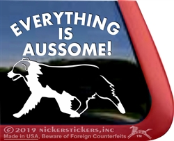 Everything is Aussome Australian Shepherd Dog Car Truck RV Window Vinyl Decal Sticker