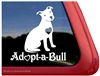 Adopt-a-Bull Pit Bull Adoption Car Truck RV Vinyl Window Decal Sticker