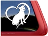 Love Pit Bull Terrier Dog Heart Car Truck RV Window Decal Sticker