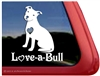 Love-a-Bull Pit Bull Adoption Car Truck RV Vinyl Window Decal Sticker