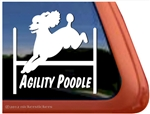 Poodle Agility Dog Vinyl Car Truck RV iPad Window Decal Sticker