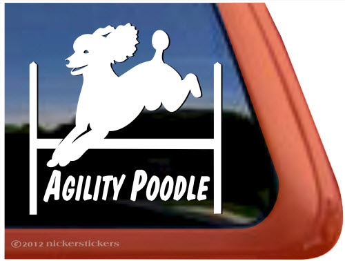 Poodle Agility Dog Decals  Stickers NickerStickers - Truck window decals