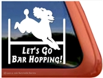 Bar Hopping Poodle Agility Dog iPad Car Truck RV Window Decal Sticker