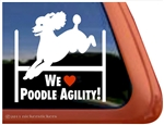 We Love Poodle Agility Dog Car Truck iPad RV Window Decal Sticker
