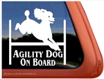 Poodle Agility Dog on Board Car Truck iPad RV Window Decal Sticker
