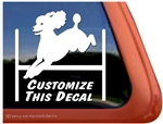 Custom Poodle Agility Dog Car Truck RV iPad Window Decal Sticker