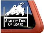 Pug Agility Dog Window Decal