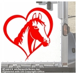 Custom Horse Heart Trailer Car Truck RV Window Decal Sticker