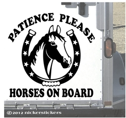 Horses on Board Horse Trailer Car Truck RV Window Decal Sticker