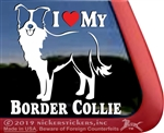 Border Collie Car Truck RV Window Decal Sticker
