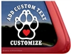 Custom Paw Print Dog Vinyl Car Truck RV Window Decal Sticker