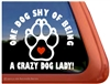Paw Print Dog Window Decal