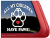 Paw Print Window Decal