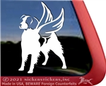 Custom American Brittany Dog Car Truck RV Window Decal Sticker