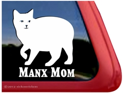 Manx Window Decal