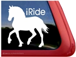 Welsh Cob Horse Trailer Window Decal