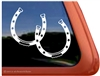 Custom Horse Shoe Horse Trailer Car Truck RV Window Decal Sticker