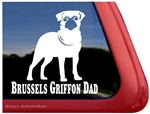 Brussels Griffon Window Decal