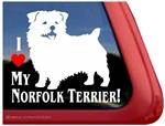 Norfolk Terrier Window Decal
