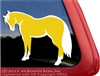 Palomino  Quarter Horse Trailer Car Truck RV Window Decal Sticker